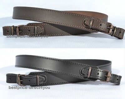 Genuine Split Leather Shotgun Rifle Sling Strap Strip