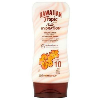 Hawaiian Tropic Silk Hydration Sun Lotion SPF 10 Sunscreen Tanning 180ml