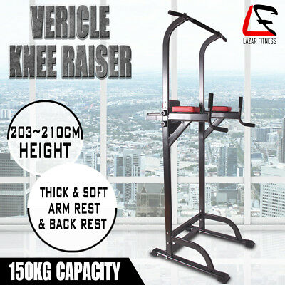 Knee Raise Power Tower Chin Up Push Pull Dip Fitness Multi Exercise Home Gym Run