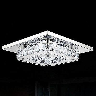 HQ  Modern LED Square Crystal Chandelier Pendant Light Ceiling Lighting Hallway