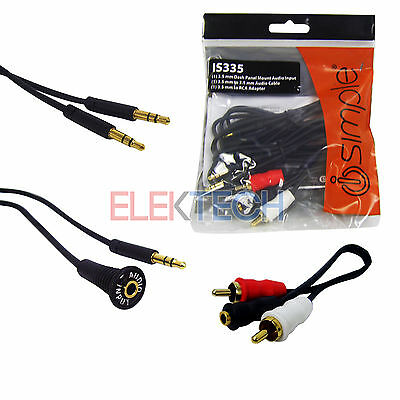Auxiliary Input 3.5mm(1/8) IS335 Jack Dash Mount Adapter RCA Aux iPhone/Android