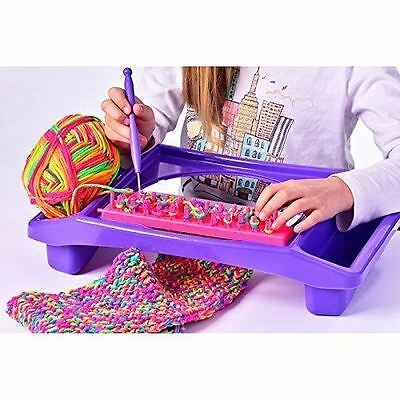 New Knit-Tastic Knitting Station Set Creative Design Playset Toy 3+