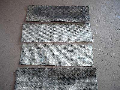 Lot 4 Sheets Antique Tin Metal Ceiling Panels  Embosses 27 X 8 1/2  Crafts Home