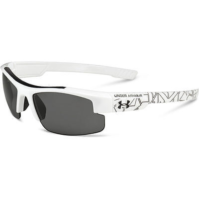 UNDER ARMOUR NITRO L SHINY WHITE PATTERN w/GRAY LENSES YOUTH SPORT SUNGLASSES