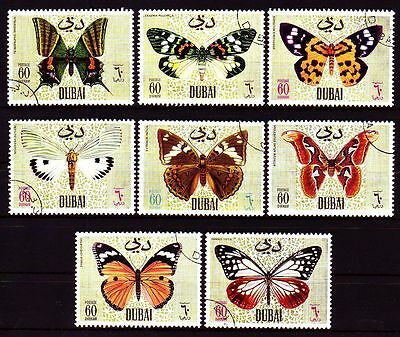 Dubai 1968 Mi.295/02 perf.11 fine used c.t.o. Schmetterlinge Butterflies Insects