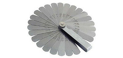 26 Blade Feeler Gauge Metric & Inches Flexible Thickness Set Tempered Steel