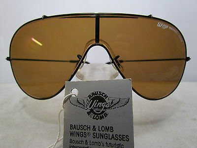 Bausch & Lomb Wings Black Brown occhiale da sole anni '80, RARE VINTAGE
