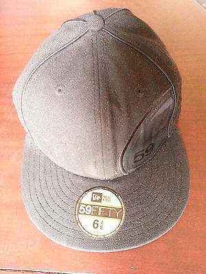 59 fifty new era all black baseball cap size 6 7/8  54.9 cm offer of the day