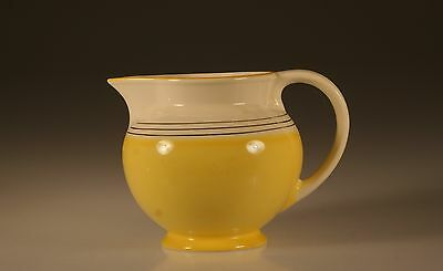 James Kent Ltd. Art Deco Yellow Pitcher with Silver Bands, #71,  England c. 1929