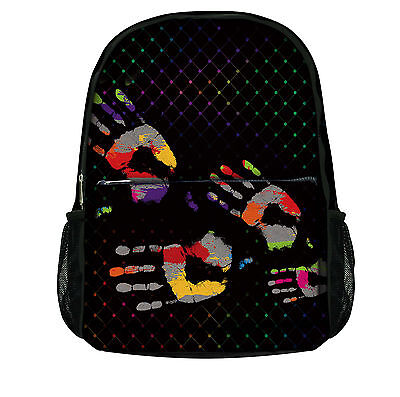 Luxburg® Designer Backpack Rucksack School Gym Travelling bag - Handprints