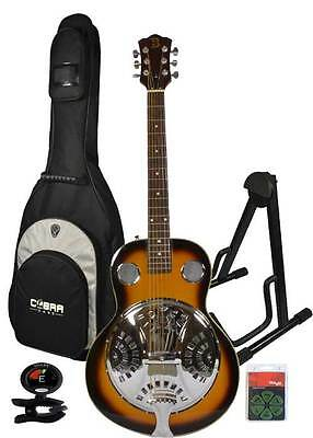 Resonator Guitar, Stand, Tuner, Picks and Gig Bag by Bryce