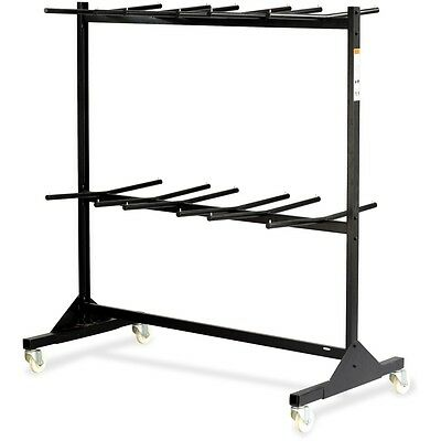 Two-Tier Chair Cart, 64-1/2w x 33-1/2d x 70-1/4h, Black
