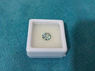 FAVOLOSA MOISSANITE FANCY  AZZURRA TONDA 1,24 CARATI mm 7,23