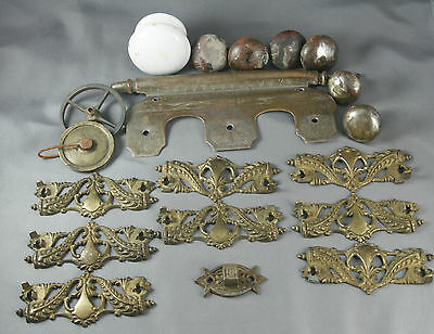 Antique Hardware Drawer Pulls Handles Parts Repair Replacement Upcycling Destash