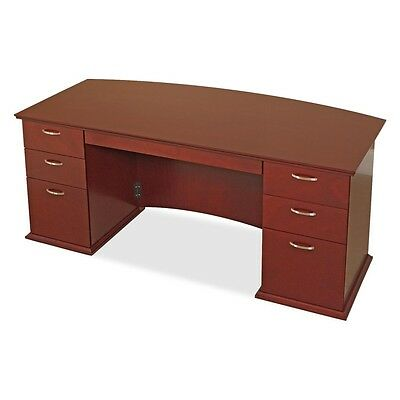 Lorell Contemporary 9000 Bow Front Desk - LLR90000