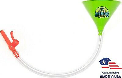 Large Beer Bong Funnel with Valve (3' Long) Fun for Tailgating | Green Funnel