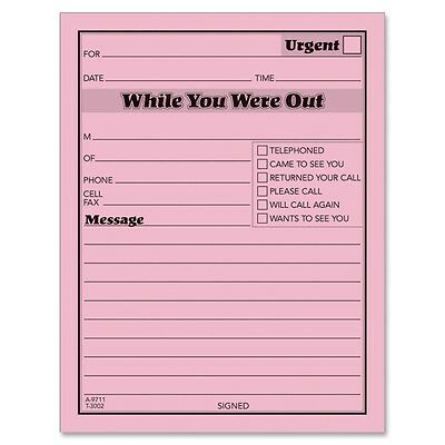 Adams While You Were Out Message Pad - ABF9711D