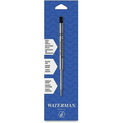 Refill for Waterman Ballpoint Pens, Medium, Black Ink