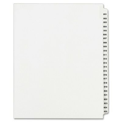 Avery Side Tab Collated Legal Index Dividers - AVE82311