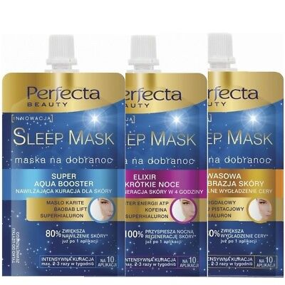 Perfecta Sleep Face Mask Professional Smoothing Hydration 10 Application 50 ml
