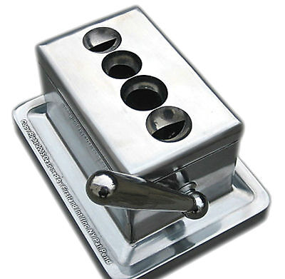 Stainless Steel Quad Table Cigar V Cutter II Desktop New In Box