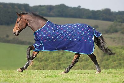 5ft 6 Shires Highlander Lite jockey print Turnout Rug.5''6""