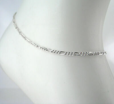 """Snake Chain Anklet 925 Sterling Silver 1mm Round Anklet 9/"""" or 10/"""" Italy NEW"""