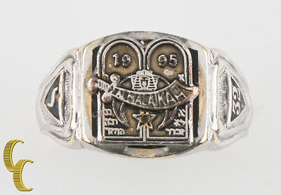Almalaikah Masonic Ring 14K White Gold/ Platinum Mens Ring