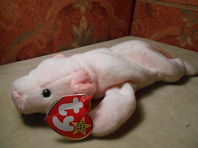 ❤️❤️ Ty Plush Beanie Baby Squealer Style 4005 Pvc Damaged ❤️❤️  Fast Shipping