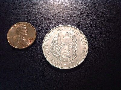 1966 D Germany Silver 5 Mark.