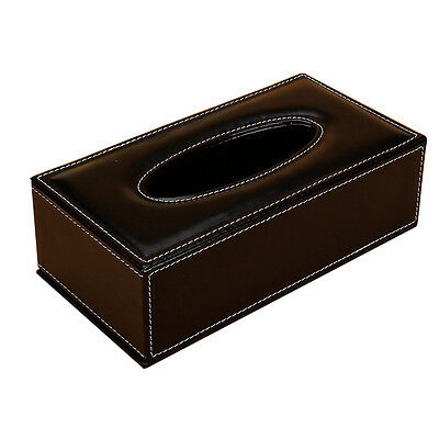 Durable Rectangle PU Leather Tissue Box napkin Car Home Paper Holder Case Cover