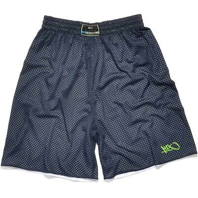 K1X Hardwood: Reversible Practice Basketball Shorts mk2 - navy/weiß