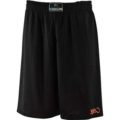 K1X Hardwood: Reversible Practice Basketball Shorts mk2 - schwarz / orange