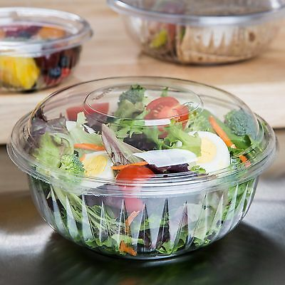 Presentabowls C32BCD 32 oz Clear Bowl with Combo-Pak Dome Lid (Case of 126) NEW