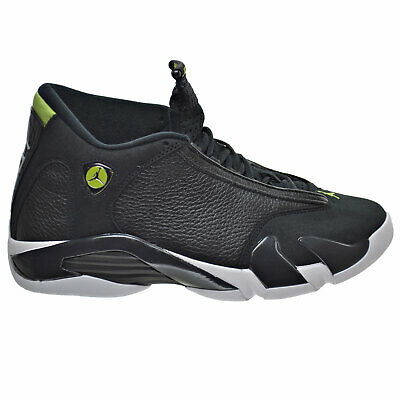 11365c8ca271a9 ... new zealand air jordan 14 retro mens shoes black white vivid green  487471 005 3c247 09525