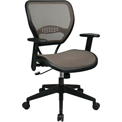 Office Star Space Latte Air Grid Seat & Back Deluxe Task Chair - OSP5588N15