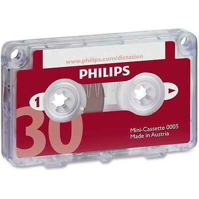 Philips Speech Dictation Minicassette With File Clip - PSPLFH000560BX