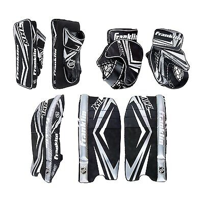 Comp 100 Goalie Set NHL Hockey Equipment Protect Gloves Guards Pads Flexible