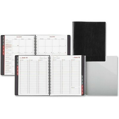 Day-Timer Black Vertical Format Weekly/Monthly Planner - DTM33341