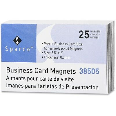 Sparco 38505 Business Card Magnets - SPR38505