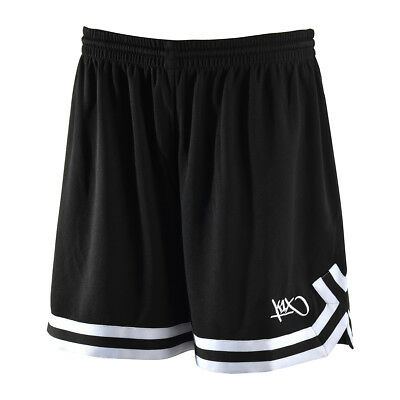 K1X Basketball: Ladies Double X Shorts - schwarz / weiß