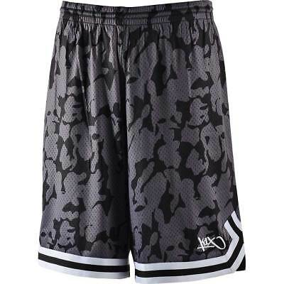 K1X Hardwood: Big Hole Mesh Double X Basketball Shorts - camouflague / schwarz
