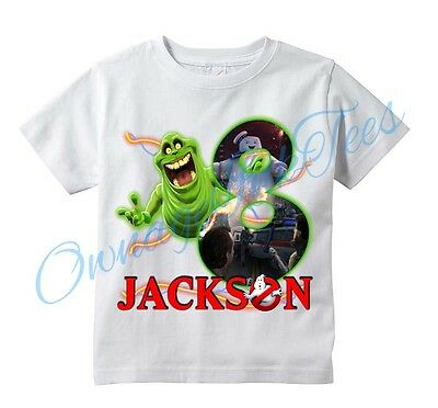 GHOSTBUSTERS Slimer Number Custom t-shirt Personalize Birthday gift Add NAME/AGE