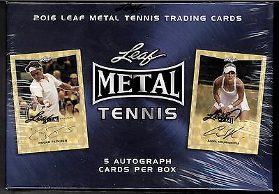 2016 Leaf Metal Tennis Hobby Box Factory Sealed X1