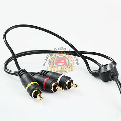 New Premium 6FT 3.5mm AUX Plug to 3 RCA male AUX Composite Audio Video OFC cable