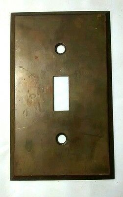 Vintage Bryant Brass Single Light Switch Plate Cover Architectural Salvage