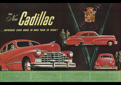 """BUICK 1946 VINTAGE AD REPRO NEW A4 CANVAS GICLEE ART PRINT POSTER 11.7/"""" x 8.3/"""""""
