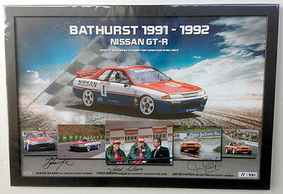 Nissan GT-R Bathurst Winner 1991 & 1992 - Signed and Framed