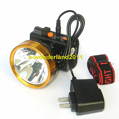5W Power White LED Miner Light Headlight Mining Lamp For Hunting Camping Fishing