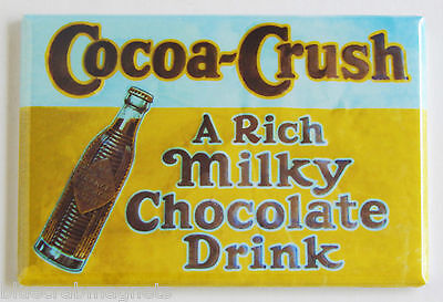 Cocoa Crush FRIDGE MAGNET (2.5 x 3.5 inches) chocolate soda sign milk